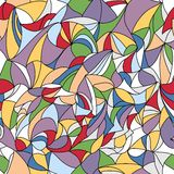 Geometrisches nahtloses Muster des Vektors - Buntglas Stockbild