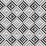 Geometrisches nahtloses Muster des Vektors mit Streifen, Linien, Quadrate lizenzfreie stockfotografie