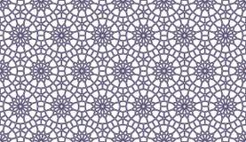 Geometrisches nahtloses Muster im Design der Arabeske Lizenzfreies Stockfoto