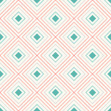 Geometrisches nahtloses Muster mit dem Wiederholen der Raute Lizenzfreie Stockfotografie
