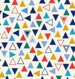Geometrisches nahtloses Muster mit Dreiecken lizenzfreie abbildung