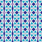 Geometrisches nahtloses Muster mit Dreiecken und Rauten in den kalten Farben Vektorvorlage ist- zum Download betriebsbereit vektor abbildung