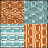 Geometrisches nahtloses Muster mit Effekt 3d Lizenzfreie Stockfotos