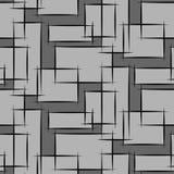 Geometrisches nahtloses Muster mit grauem restangle Lizenzfreie Stockfotos