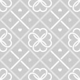 Geometrisches nahtloses Muster mit Herzen Lizenzfreie Stockbilder