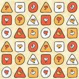 Geometrisches nahtloses Muster mit Herzen Lizenzfreies Stockfoto