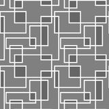 Geometrisches nahtloses Muster mit schneidenem restangle Stockfotografie