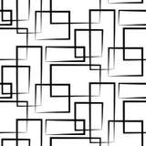 Geometrisches nahtloses Muster mit schwarzem restangle Lizenzfreie Stockbilder