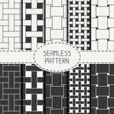 Geometrisches nahtloses Muster mit verflochtenen Bändern lizenzfreie abbildung
