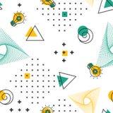 Geometrisches nahtloses Muster Textilminimales Hippie-Design stock abbildung