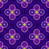 Geometrisches nahtloses Muster, ungewöhnliche Raute mit Kreisen Lizenzfreie Stockfotografie