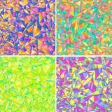 Geometrischer Hintergrund vier des farbigen Dreiecks Lizenzfreies Stockbild