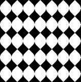 Geometrisches nahtloses Schwarzweiss-Muster, abstrakter Hintergrund Stockbilder