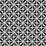 Geometrisches nahtloses Schwarzweiss-Muster, abstrakter Hintergrund vektor abbildung