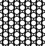 Geometrisches nahtloses Schwarzweiss-Muster, abstrakter Hintergrund Stockfotografie