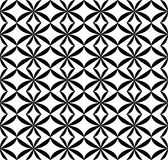 Geometrisches nahtloses Schwarzweiss-Muster, abstrakter Hintergrund Lizenzfreie Stockfotografie