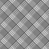Geometrisches nahtloses Schwarzweiss-Muster, abstrakter Hintergrund Stockfotos