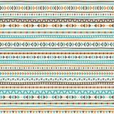 Geometrisches nahtloses Vektormuster Boho Lizenzfreies Stockfoto