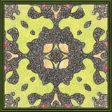 Geometrisches Naturmuster der Feldgrafik Ölgemälde auf Segeltuch Stockfoto