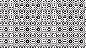 Geometrisches pixelated nahtloses Muster des nordischen Vektors stock abbildung