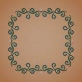 Geometrisches Rahmenmonogrammdesign Stockfoto