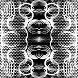 Geometrisches schönes nahtloses Schwarzweiss-Muster Abstraktes w stock abbildung