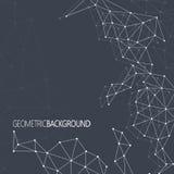Geometrisches schwarzes Hintergrund Molekül und Lizenzfreie Stockfotos