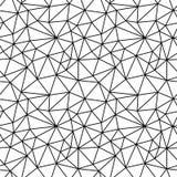 Geometrisches Schwarzweiss-Hippie-Modepolygon-Hintergrundmuster stockfoto