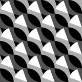 Geometrisches Schwarzweiss-Muster/Hintergrund Nahtlos repea vektor abbildung
