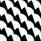 Geometrisches Schwarzweiss-Muster/Hintergrund Nahtlos repea lizenzfreie abbildung