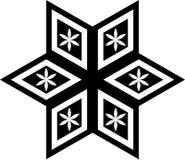 Geometrisches Schwarzweiss-Muster im Kreis vektor abbildung