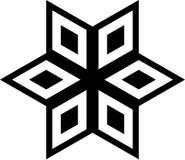 Geometrisches Schwarzweiss-Muster im Kreis stock abbildung