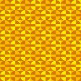 Geometrisches Spaßmuster mit den orange und gelben Kreisen Stockfotografie