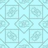 Geometrisches Streifenmuster des nahtlosen Vektors Stockbilder