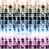 Geometrisches technologisches digitales abstraktes modernes quadratisches backgroun Lizenzfreie Stockfotos