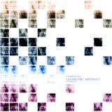 Geometrisches technologisches digitales abstraktes modernes quadratisches Fragment Stockfotos