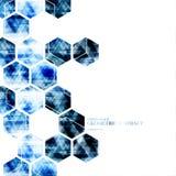 Geometrisches technologisches digitales Hexagonzusammenfassungs-Hintergrund vect Stockfotos