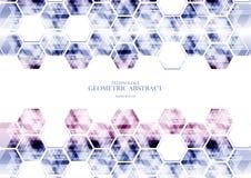 Geometrisches technologisches verschiedenes Hexagonzusammenfassungs-Hintergrund vect Lizenzfreie Stockfotos