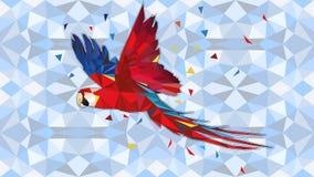 Geometrisches Tier - geometrische Illustration KAKARIKI A von einem Neuseeland-kakariki lizenzfreie abbildung