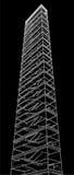 Geometrisches Treppenhaus des hohen Gebäude-Vektors Stockfotografie