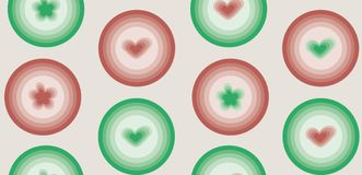 Geometrisches Tupfenmuster der Frühlingsliebe lizenzfreie abbildung