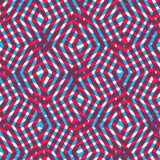 Geometrisches unordentliches gezeichnetes nahtloses Muster, buntes Labyrinthvektorende Lizenzfreie Stockbilder