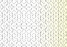 Geometrisches Vektor-Muster Wiederholen des linearen Hexagons mit gerade Stockfotos