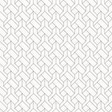 Geometrisches Vektormuster für erfundene Stickereientwürfe, wiederholend mit linearem und quadratischem Diamanten, Grafik sauber  stock abbildung