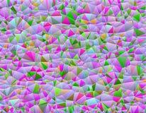 Geometrisk abstrakt bakgrund av färgrika trianglar royaltyfri illustrationer