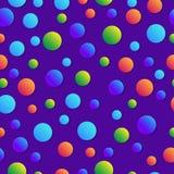 geometrisk abstrakt bakgrund Barnslig färgrik modell Bubblor med lutning Moderiktig bakgrund för barnslig bok Fotografering för Bildbyråer