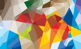 Geometrisk abstrakt bakgrund för färgrik triangel Royaltyfria Bilder