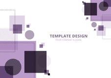 Geometrisk abstrakt bakgrund för malldesign, purpurfärgad signal stock illustrationer