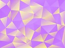 Geometrisk abstrakt bakgrund med triangulära polygoner också vektor för coreldrawillustration Royaltyfri Bild
