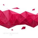 geometrisk abstrakt bakgrund Vektorpolygonillustration Royaltyfria Bilder